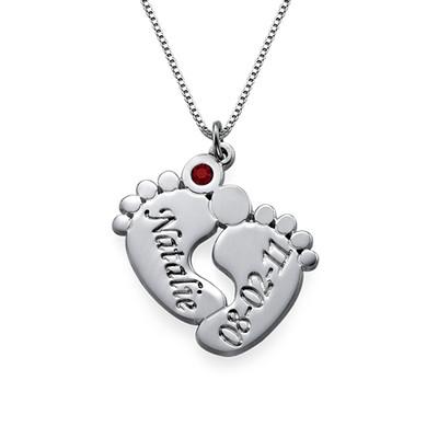 Baby Feet Necklace & Baby Bracelet Set - 2