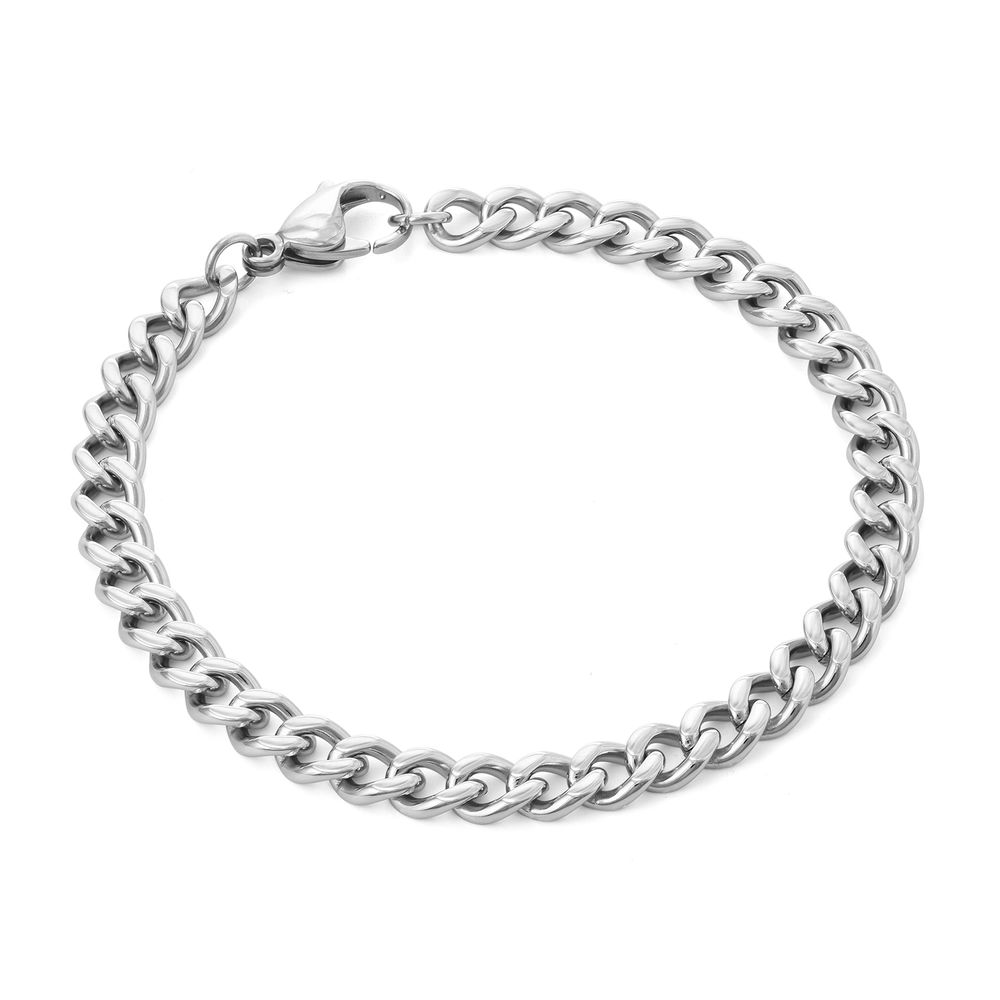 Men's Cuban Link Bracelet in Stainless Steel