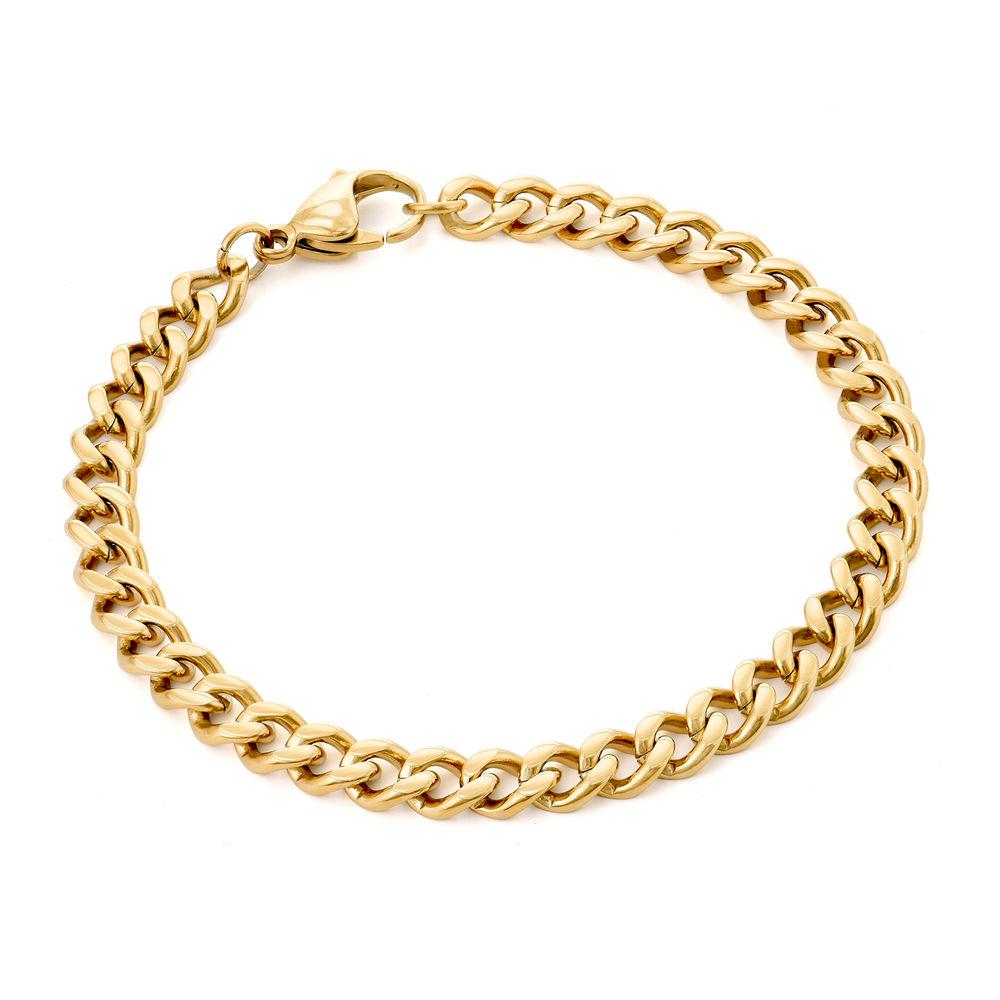 Men's Cuban Link Bracelet in 18ct Gold Plating