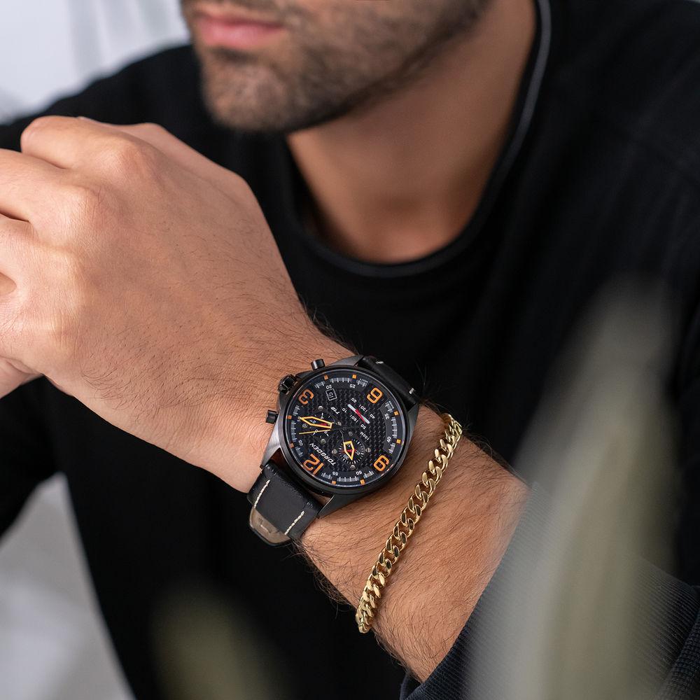Men's Cuban Link Bracelet in 18ct Gold Plating - 2