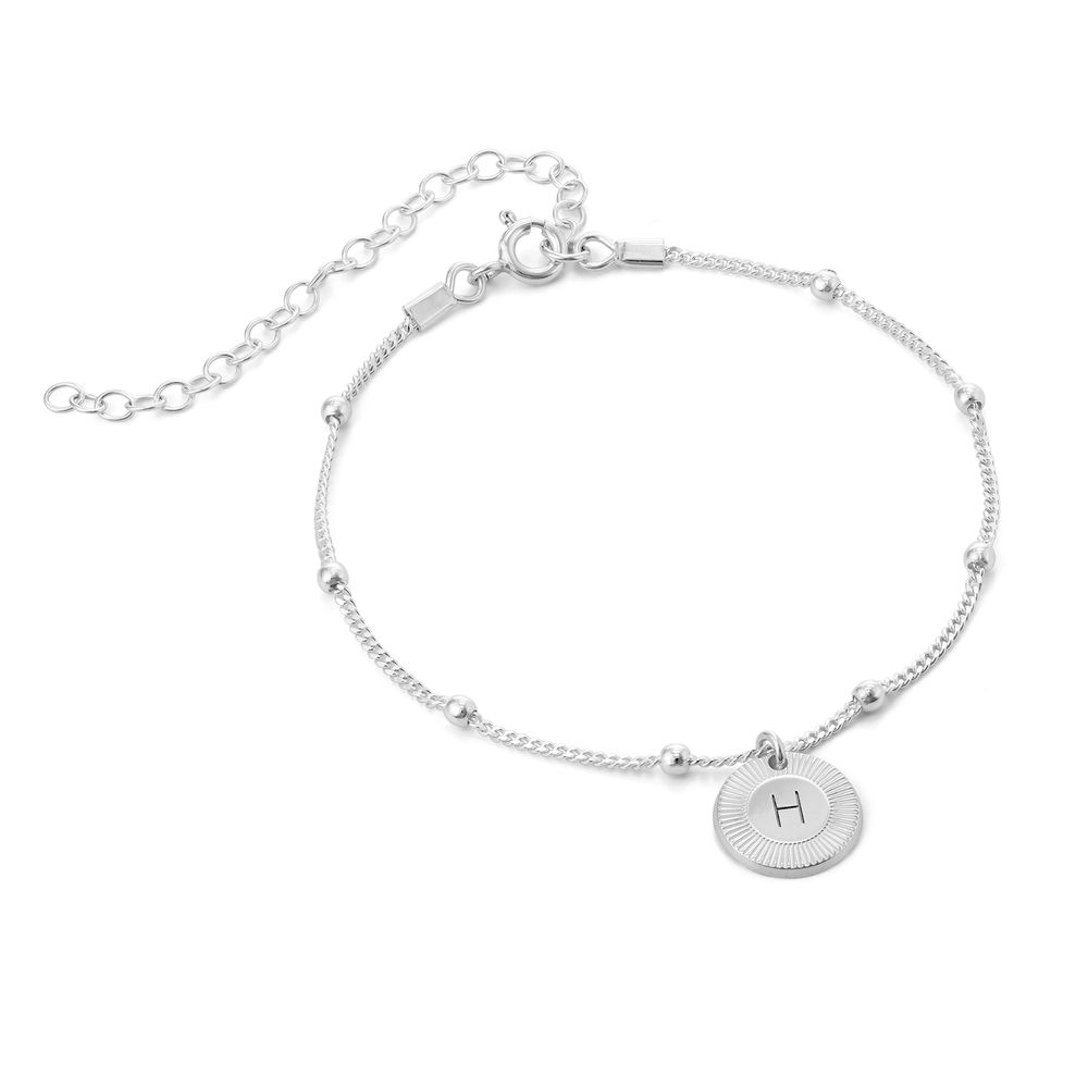 Mini Rayos Initial Bracelet / Anklet in Sterling Silver