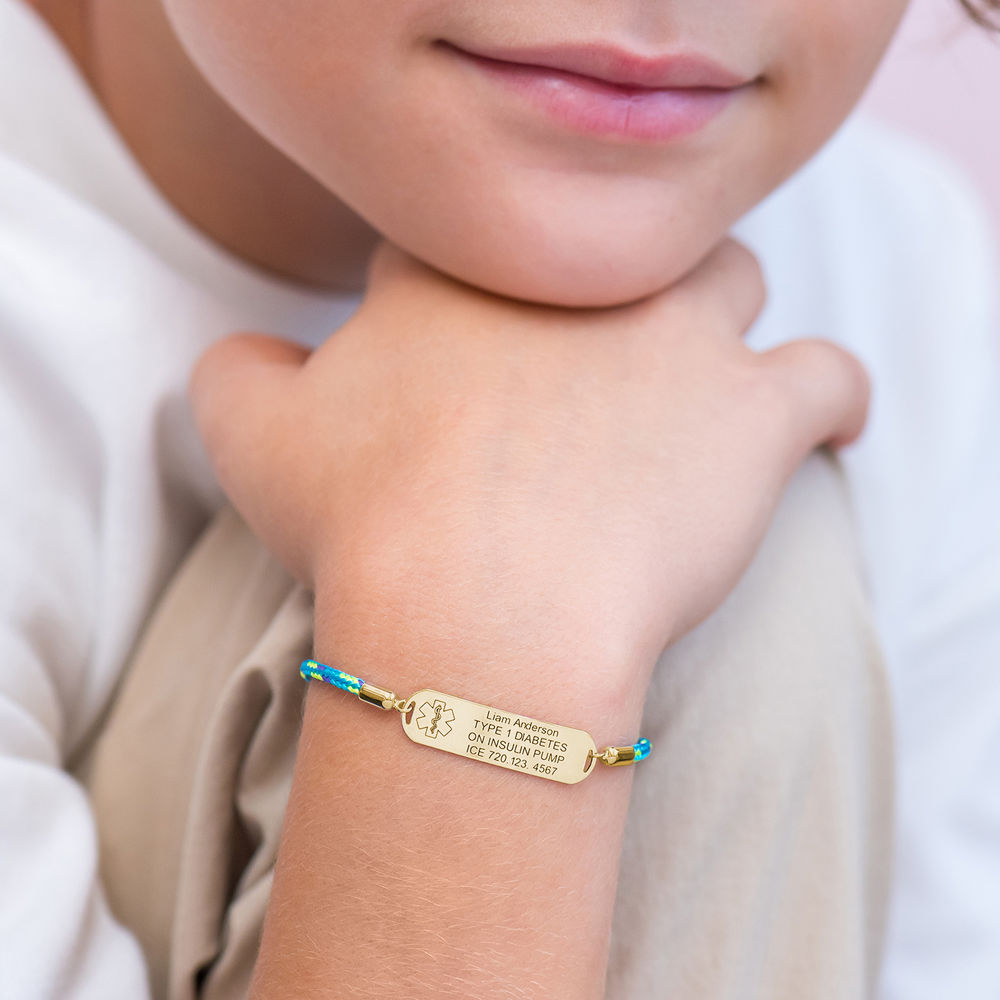 Medical ID Bracelet for Kids in 18ct Gold Plating - 4