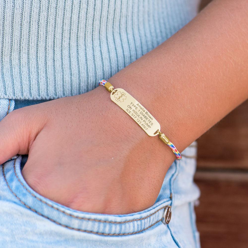 Medical ID Bracelet for Kids in 18ct Gold Plating - 5