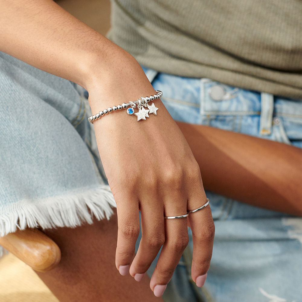Having a Ball Bracelet with Custom Charms in Sterling Silver - 3