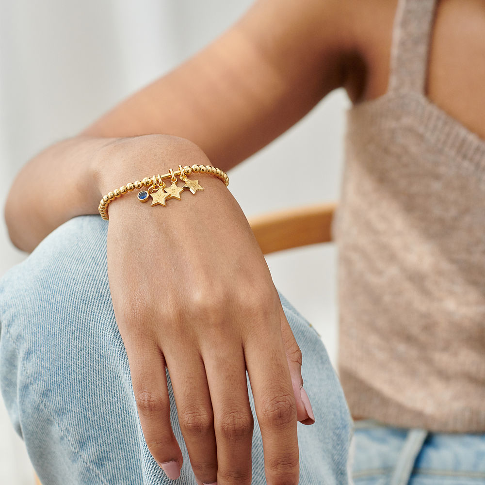 Having a Ball Bracelet with Custom Charms in Gold Plating - 3