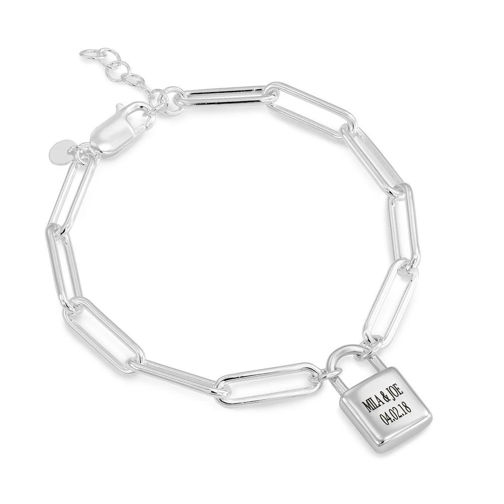 Allie Padlock Link Bracelet in Sterling Silver