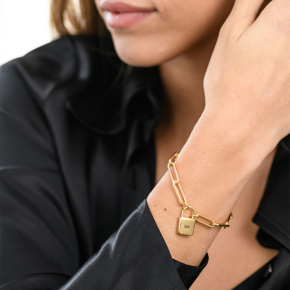 Allie Padlock Link Bracelet in Gold Plating - 2