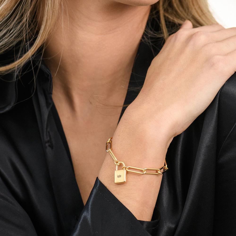 Allie Padlock Link Bracelet in Gold Plating - 3