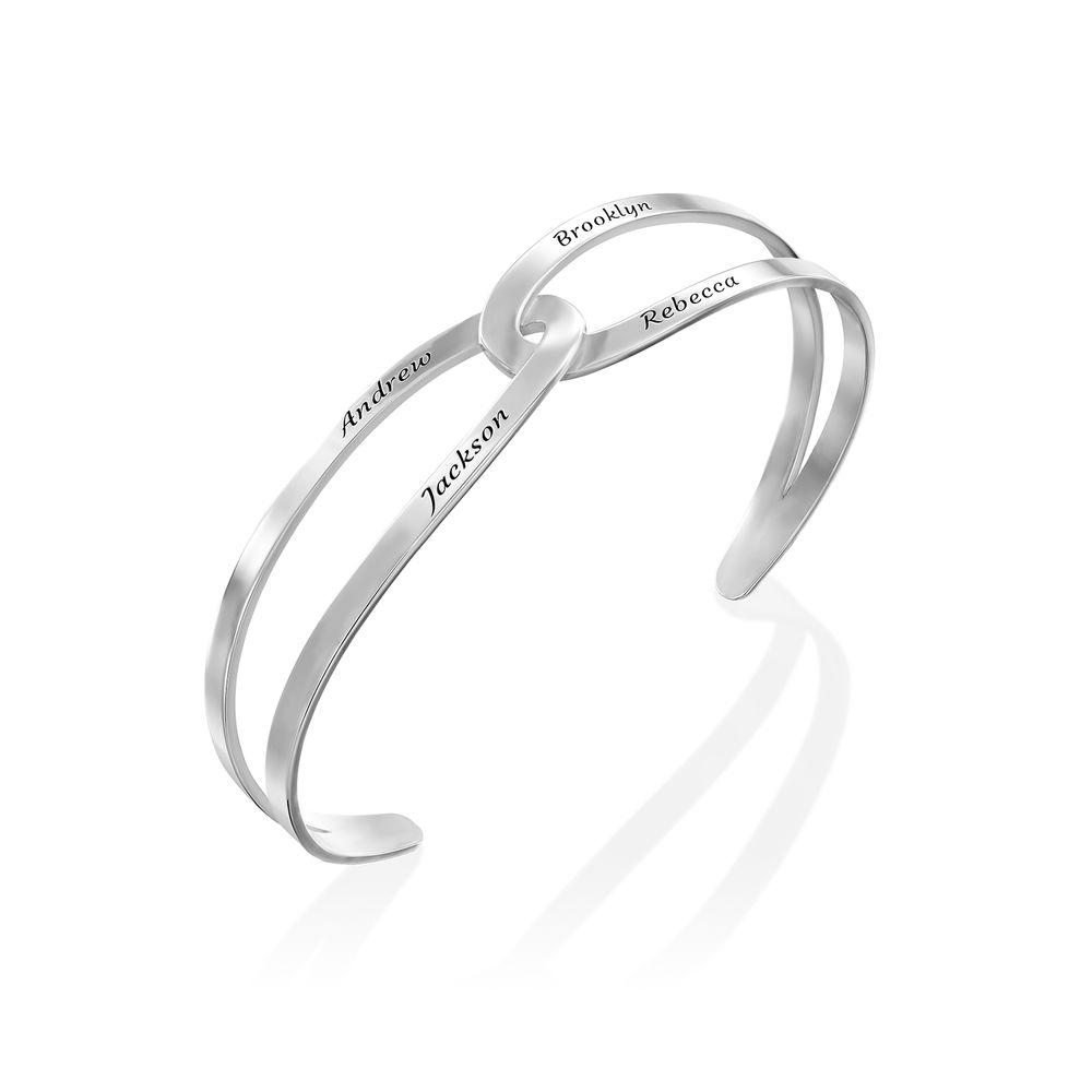 Hand in Hand- Custom Bracelet Cuff in Sterling Silver - 1