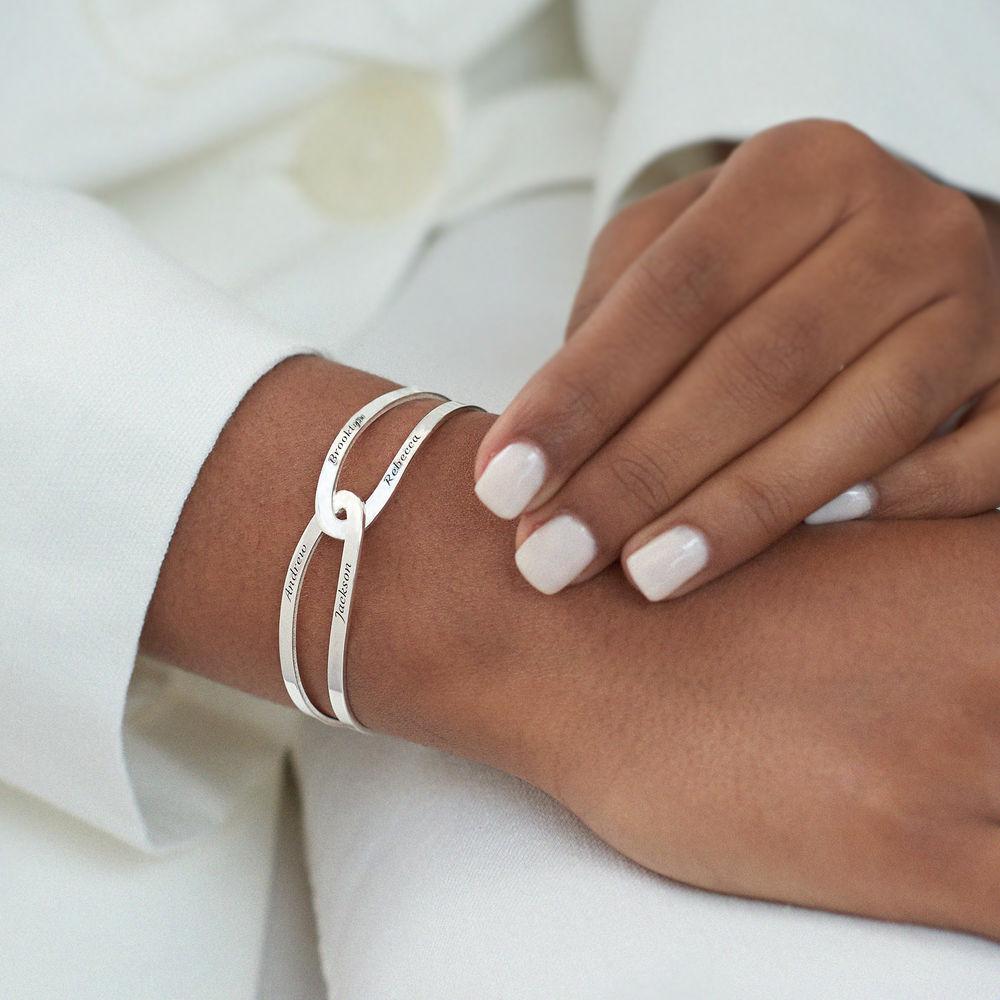 Hand in Hand- Custom Bracelet Cuff in Sterling Silver - 5