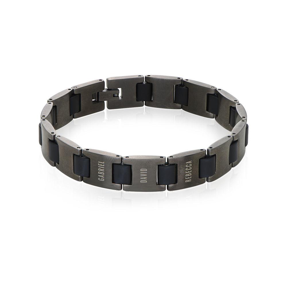 Edge Men's Bracelet in Black Stainless Steel