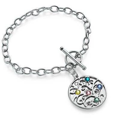 Silver Tree of Life Bracelet - Filigree Style - 1