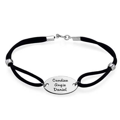 Engraved Oval Tag Bracelet - 1