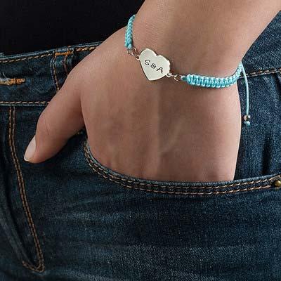 Engraved Initial Heart Bracelet - 2