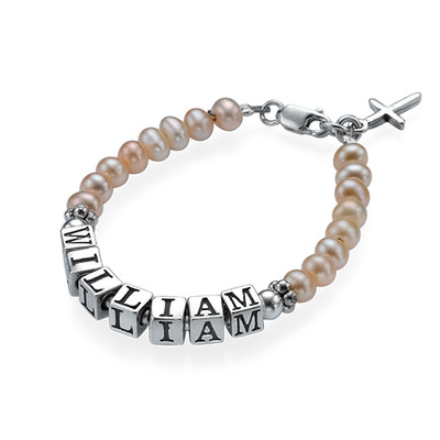 Peach Engraved Bracelet for Babies