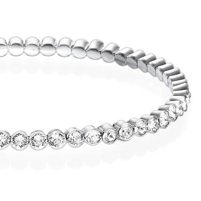 Tennis Bracelet with Swarovski Crystals - 1