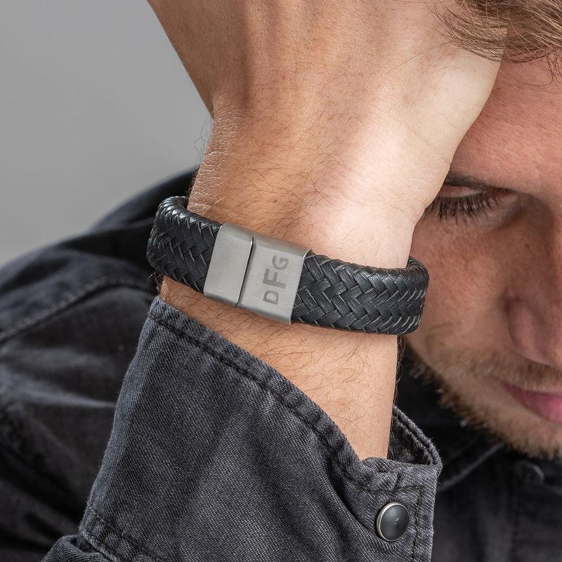 Men's Monogram Bracelet - 1 - 2 - 3 - 4