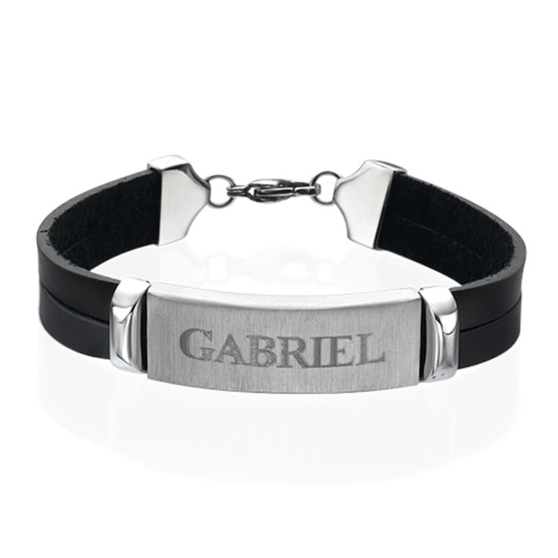 Personalized Leather Bracelet for Men - 1