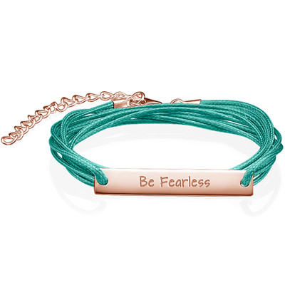 "Inspirational Gifts - ""Be Fearless"" Bracelet RGP"