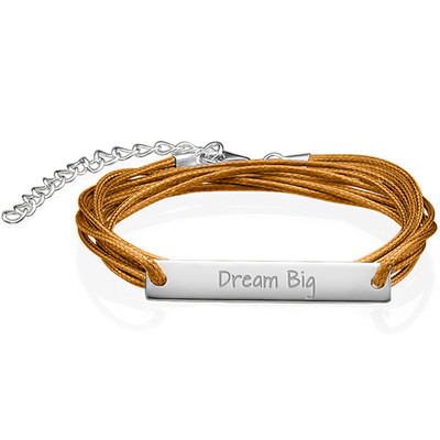 "Inspirational Jewellery - ""Dream Big"" Bar Bracelet SR"
