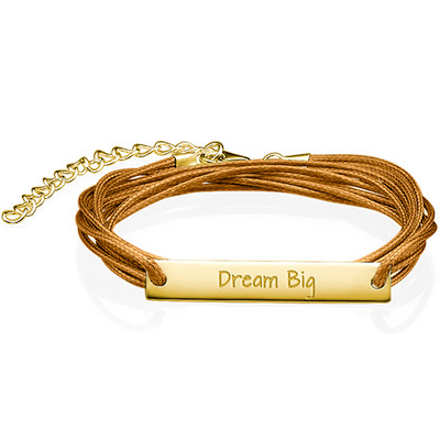 "Inspirational Jewellery - ""Dream Big"" Bar Bracelet"