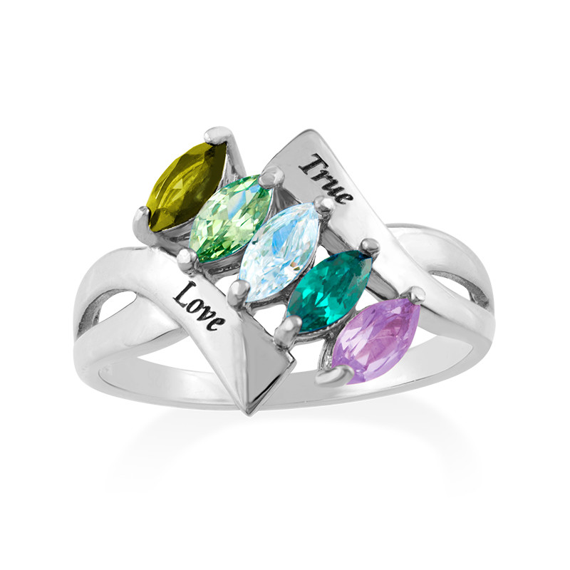 Birthstone Ring for mum - 1