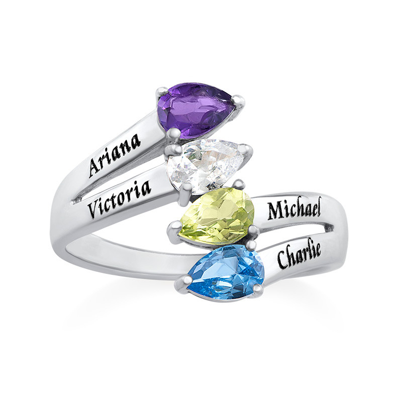 Four Stone Mothers Ring - 1