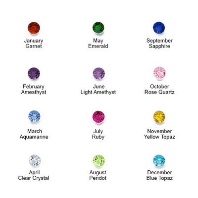 Sparkling Two Birthstone Ring with Engraving - 3