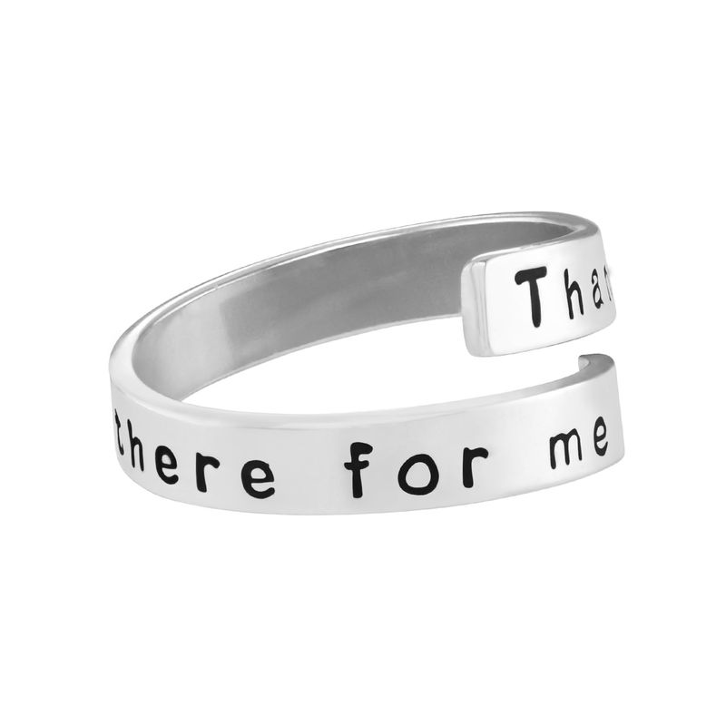 Engravable Ring Wrap in Sterling Silver - 1 - 2