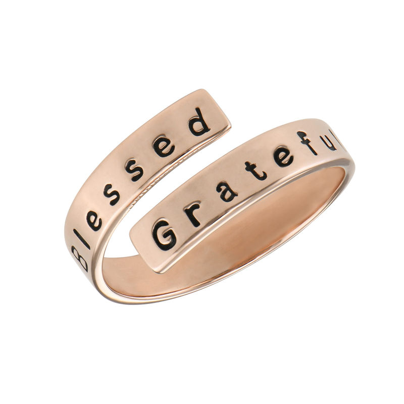 Engravable Ring Wrap in Rose Gold Plating