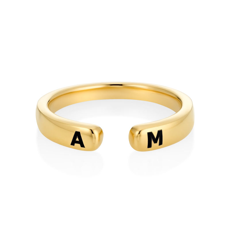 Custom Stacking Open Ring in Gold Plating - 3
