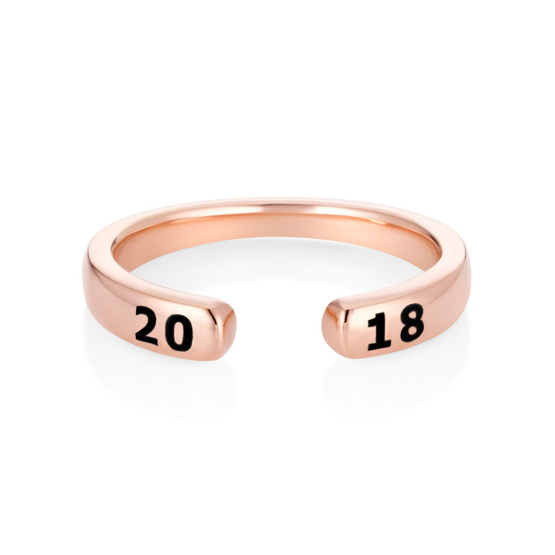 Custom Stacking Open Ring in Rose Gold Plating - 1