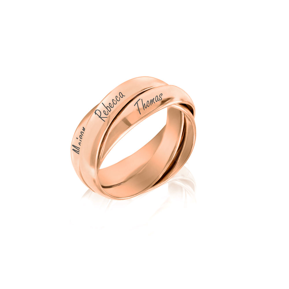 Charlize Russian Ring in Rose Gold Plating - 1