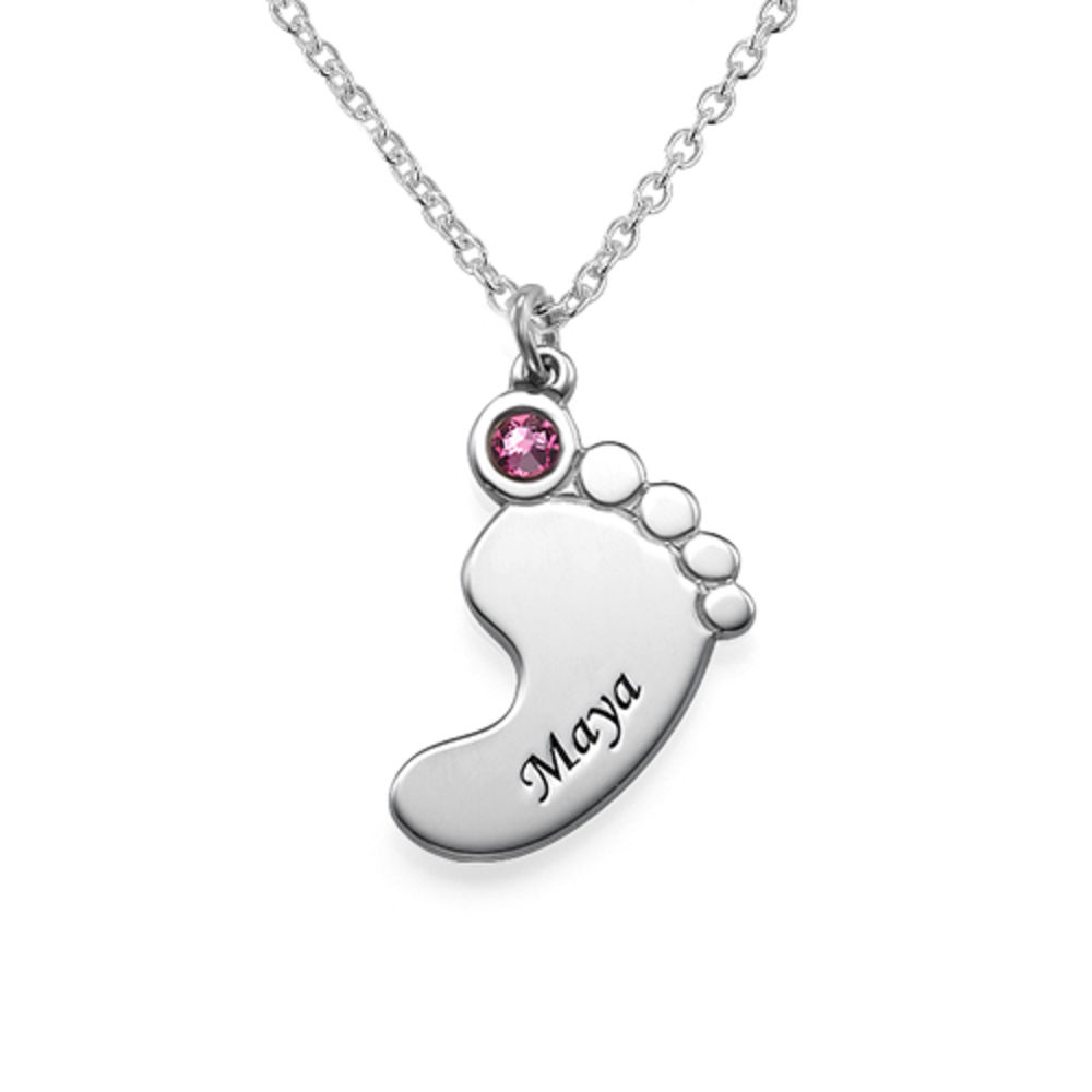 Mother and Daughter Baby Feet Necklace - 1 - 2