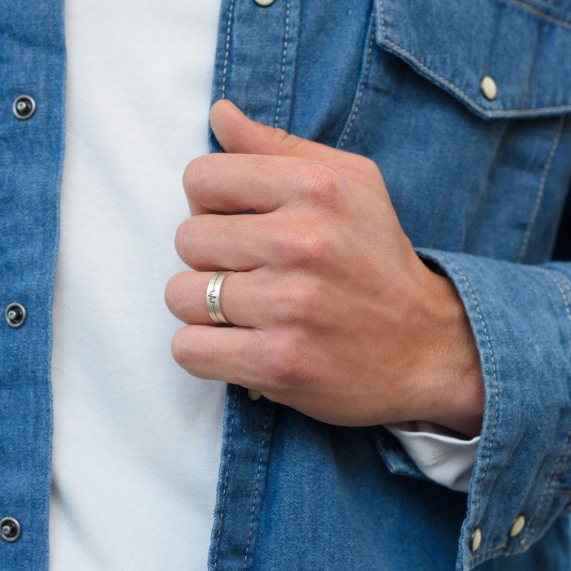 Heartbeat Couple Rings - 3