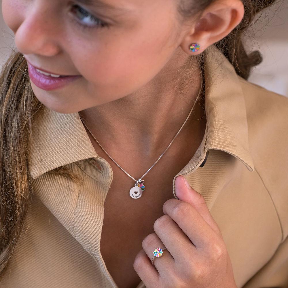 Flower Jewellery Set for Girls in Sterling Silver - 1