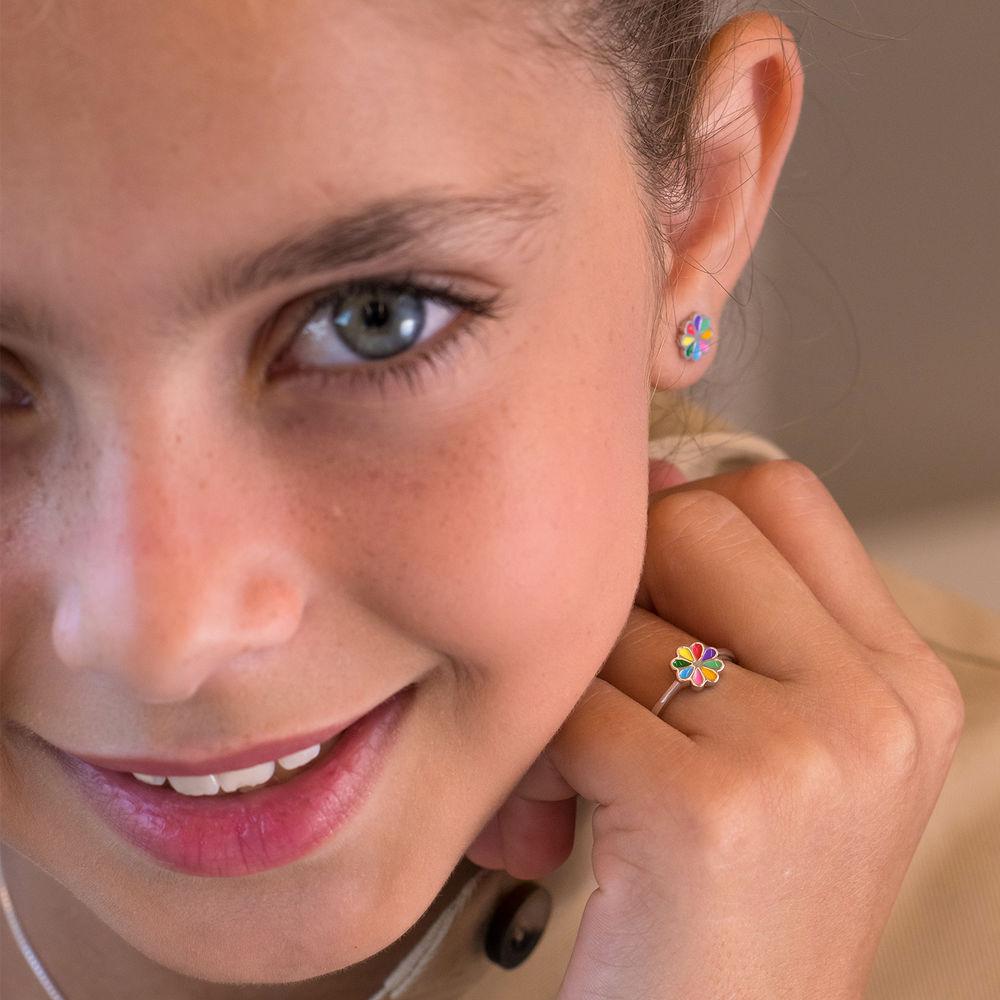 Flower Jewellery Set for Girls in Sterling Silver - 3