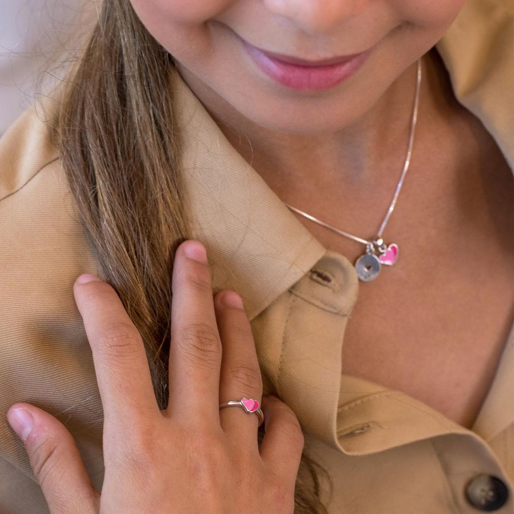 Heart Jewellery Set for Girls in Sterling Silver - 3