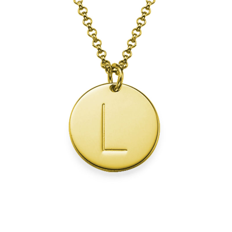 2 Initial Charm Necklaces in Gold Plating - 1