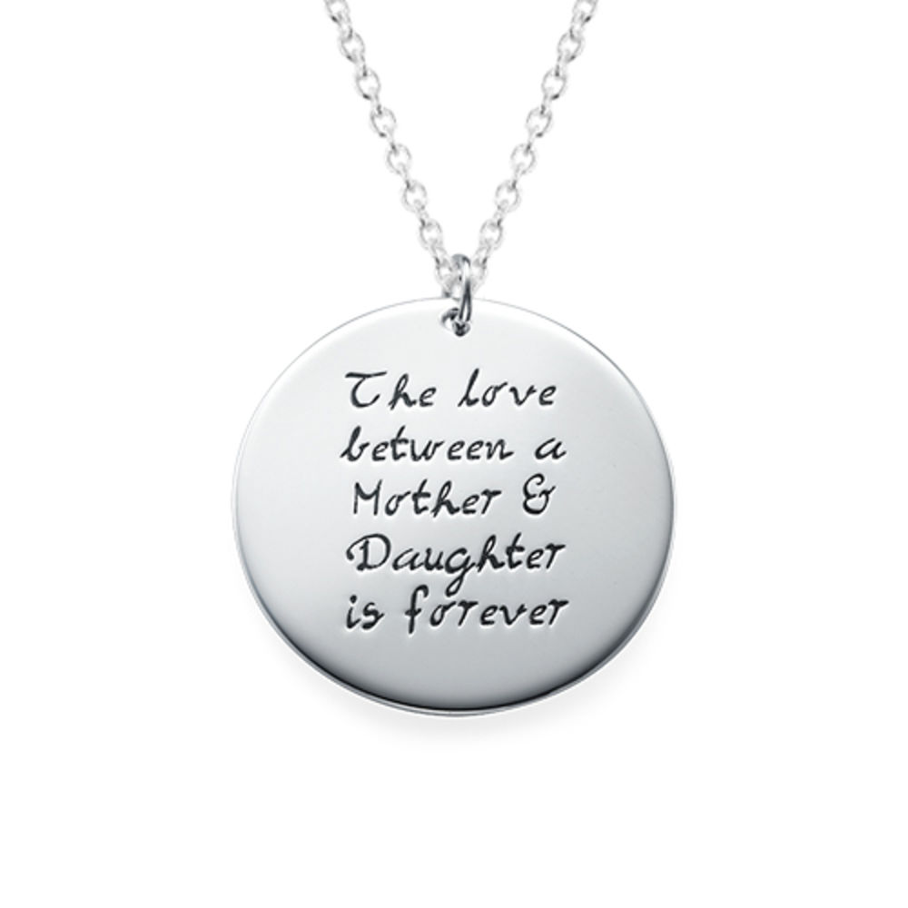 Mother Daughter Gift - Set of Three Engraved Necklaces - 1