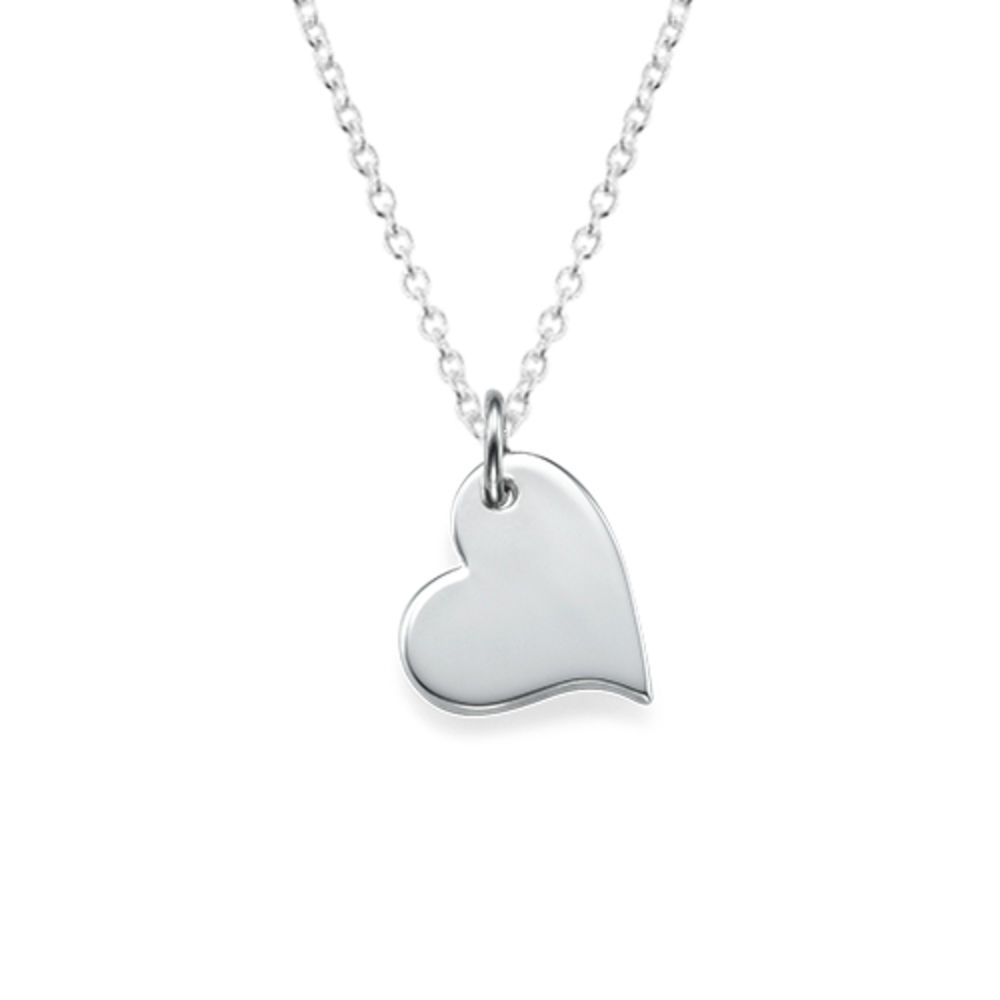 Mother and Daughter Cut Out Heart Necklace Set - 2