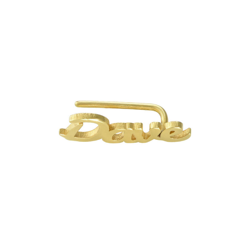 Personalised Ear Climbers with 18ct Gold Plating - 1