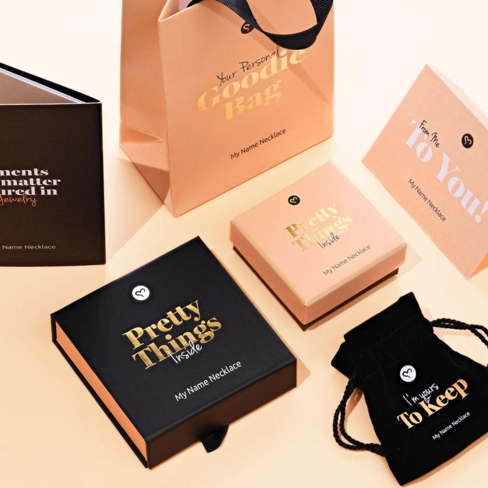 Siena Drop Name Earrings in 18ct Gold Plating - 4