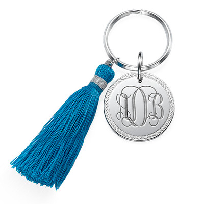 Monogram Keyring with Tassel