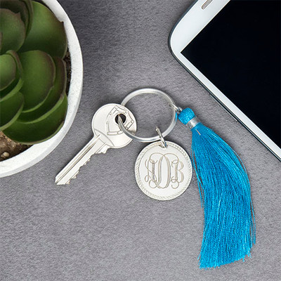 Monogram Keyring with Tassel - 2