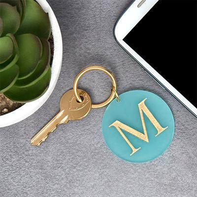 Acrylic Initial Keychain - 2