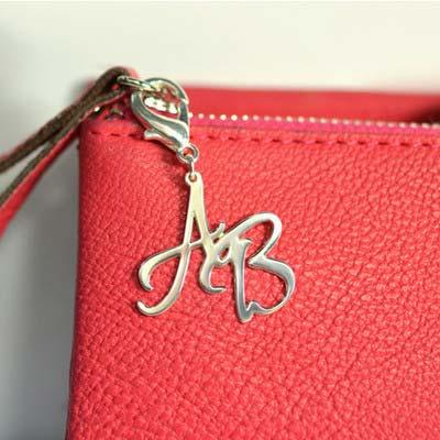 Silver Handbag/Purse Personalised Initial Charm - 1