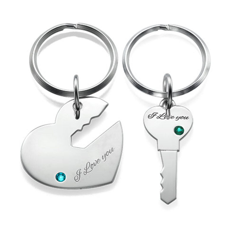 Heart and Key Keyring for Couples