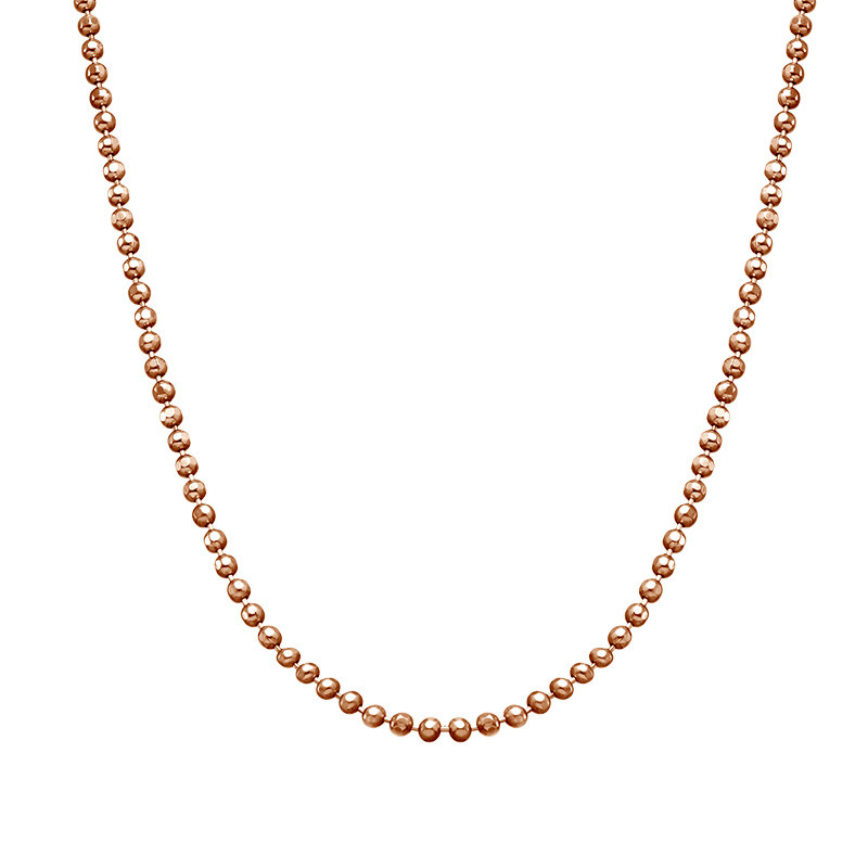 Bead Chain - Rose Gold Plated