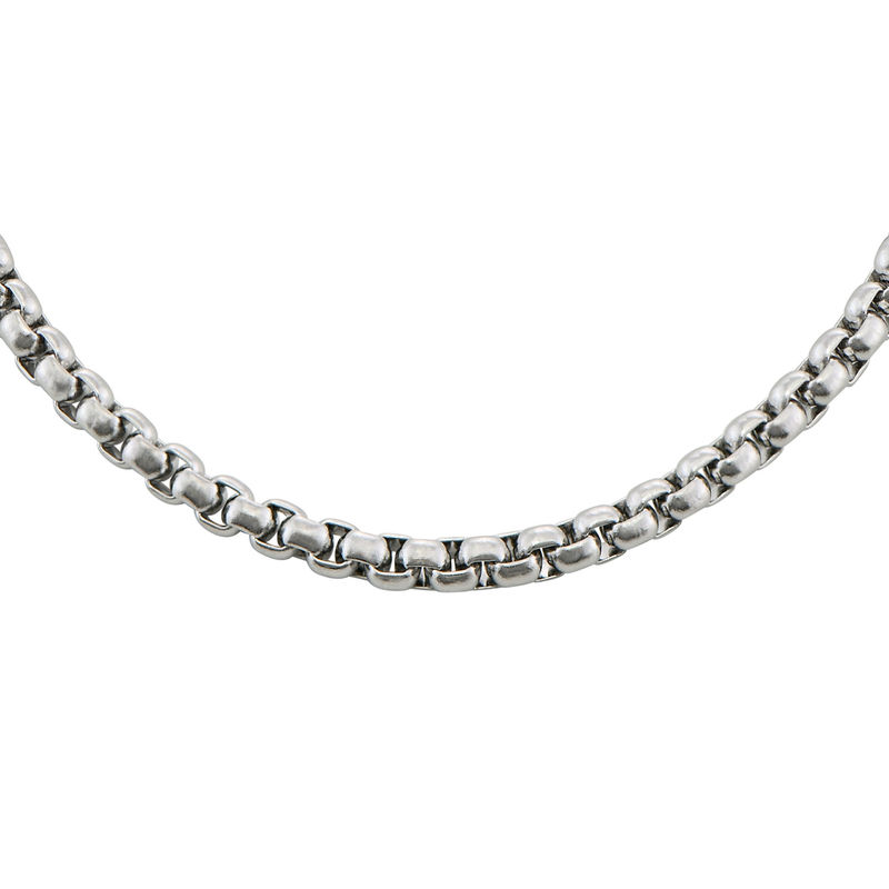 Elongated Box Chain Necklace for Men - 1